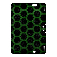 Hexagon2 Black Marble & Green Leather Kindle Fire Hdx 8 9  Hardshell Case
