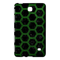 Hexagon2 Black Marble & Green Leather Samsung Galaxy Tab 4 (8 ) Hardshell Case