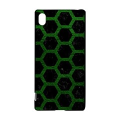 Hexagon2 Black Marble & Green Leather Sony Xperia Z3+