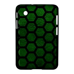 Hexagon2 Black Marble & Green Leather (r) Samsung Galaxy Tab 2 (7 ) P3100 Hardshell Case
