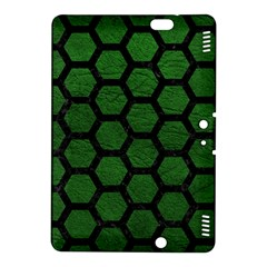Hexagon2 Black Marble & Green Leather (r) Kindle Fire Hdx 8 9  Hardshell Case