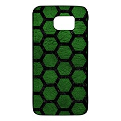 Hexagon2 Black Marble & Green Leather (r) Galaxy S6