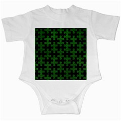 Puzzle1 Black Marble & Green Leather Infant Creepers