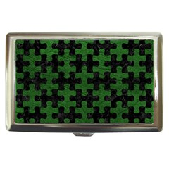 Puzzle1 Black Marble & Green Leather Cigarette Money Cases