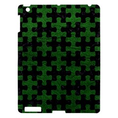 Puzzle1 Black Marble & Green Leather Apple Ipad 3/4 Hardshell Case