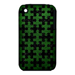 Puzzle1 Black Marble & Green Leather Iphone 3s/3gs