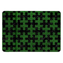Puzzle1 Black Marble & Green Leather Samsung Galaxy Tab 8 9  P7300 Flip Case