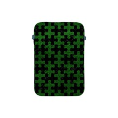 Puzzle1 Black Marble & Green Leather Apple Ipad Mini Protective Soft Cases