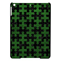 Puzzle1 Black Marble & Green Leather Ipad Air Hardshell Cases