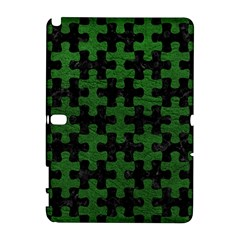 Puzzle1 Black Marble & Green Leather Galaxy Note 1