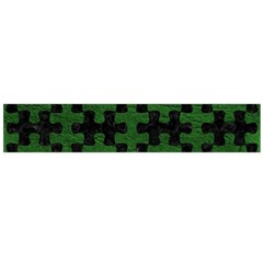 Puzzle1 Black Marble & Green Leather Flano Scarf (large)