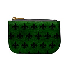 Royal1 Black Marble & Green Leather Mini Coin Purses