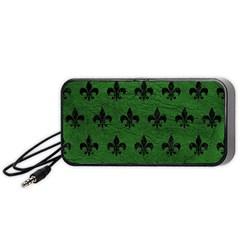 Royal1 Black Marble & Green Leather Portable Speaker