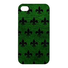 Royal1 Black Marble & Green Leather Apple Iphone 4/4s Hardshell Case