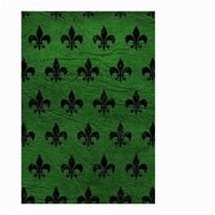 Royal1 Black Marble & Green Leather Small Garden Flag (two Sides)