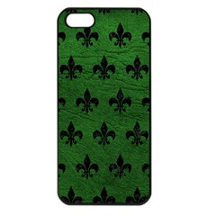 Royal1 Black Marble & Green Leather Apple Iphone 5 Seamless Case (black)