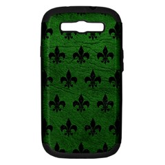 Royal1 Black Marble & Green Leather Samsung Galaxy S Iii Hardshell Case (pc+silicone)