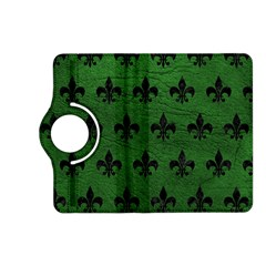 Royal1 Black Marble & Green Leather Kindle Fire Hd (2013) Flip 360 Case