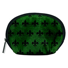Royal1 Black Marble & Green Leather Accessory Pouches (medium)