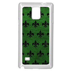 Royal1 Black Marble & Green Leather Samsung Galaxy Note 4 Case (white)