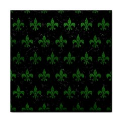 Royal1 Black Marble & Green Leather (r) Tile Coasters