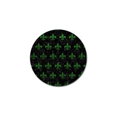 Royal1 Black Marble & Green Leather (r) Golf Ball Marker (10 Pack)