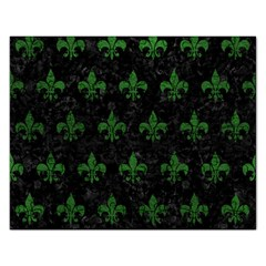 Royal1 Black Marble & Green Leather (r) Rectangular Jigsaw Puzzl