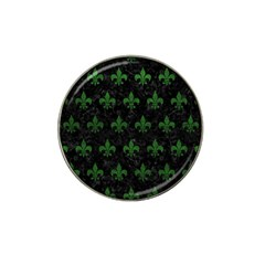 Royal1 Black Marble & Green Leather (r) Hat Clip Ball Marker (10 Pack)
