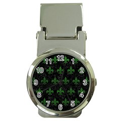 Royal1 Black Marble & Green Leather (r) Money Clip Watches