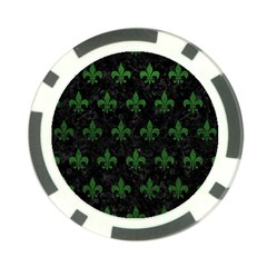 Royal1 Black Marble & Green Leather (r) Poker Chip Card Guard