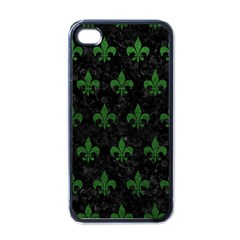 Royal1 Black Marble & Green Leather (r) Apple Iphone 4 Case (black)