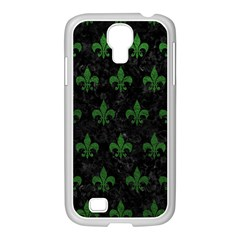 Royal1 Black Marble & Green Leather (r) Samsung Galaxy S4 I9500/ I9505 Case (white)