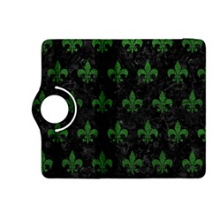 Royal1 Black Marble & Green Leather (r) Kindle Fire Hdx 8 9  Flip 360 Case