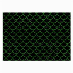 Scales1 Black Marble & Green Leather Large Glasses Cloth (2 Side)