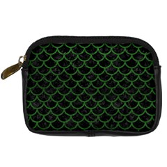 Scales1 Black Marble & Green Leather Digital Camera Cases