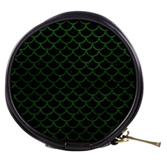 Scales1 Black Marble & Green Leather Mini Makeup Bags