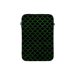 Scales1 Black Marble & Green Leather Apple Ipad Mini Protective Soft Cases
