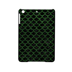 Scales1 Black Marble & Green Leather Ipad Mini 2 Hardshell Cases