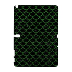Scales1 Black Marble & Green Leather Galaxy Note 1