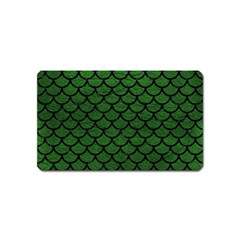 Scales1 Black Marble & Green Leather (r) Magnet (name Card)