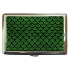 Scales1 Black Marble & Green Leather (r) Cigarette Money Cases