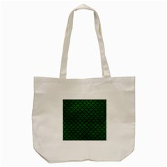 Scales1 Black Marble & Green Leather (r) Tote Bag (cream)