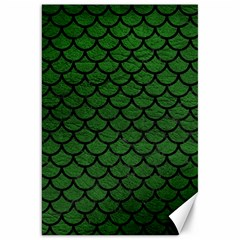Scales1 Black Marble & Green Leather (r) Canvas 20  X 30