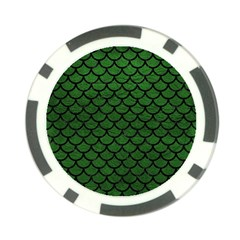 Scales1 Black Marble & Green Leather (r) Poker Chip Card Guard (10 Pack)