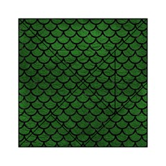 Scales1 Black Marble & Green Leather (r) Acrylic Tangram Puzzle (6  X 6 )