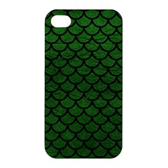 Scales1 Black Marble & Green Leather (r) Apple Iphone 4/4s Premium Hardshell Case