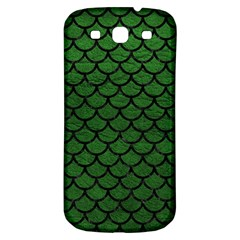 Scales1 Black Marble & Green Leather (r) Samsung Galaxy S3 S Iii Classic Hardshell Back Case
