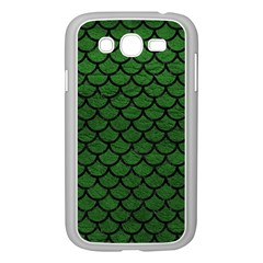 Scales1 Black Marble & Green Leather (r) Samsung Galaxy Grand Duos I9082 Case (white)