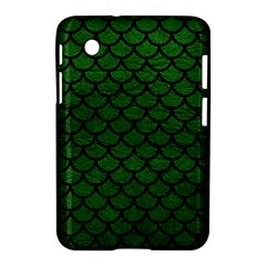 Scales1 Black Marble & Green Leather (r) Samsung Galaxy Tab 2 (7 ) P3100 Hardshell Case