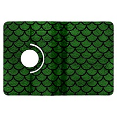 Scales1 Black Marble & Green Leather (r) Kindle Fire Hdx Flip 360 Case